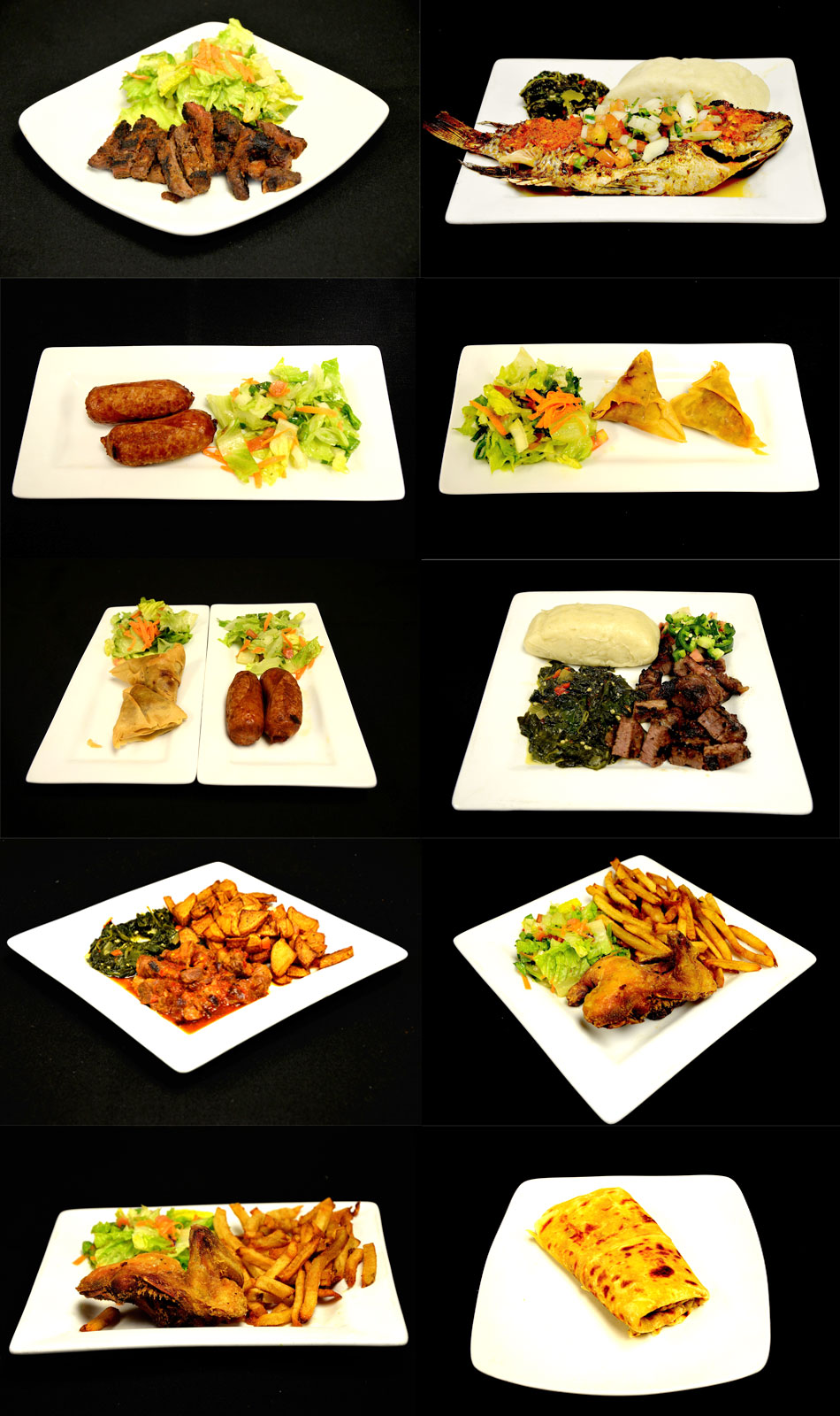 Taste of Africa Menu Picts